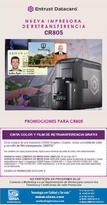CINTA Y FILM GRATIS CON CR805 / SMART TRADE IMPRES